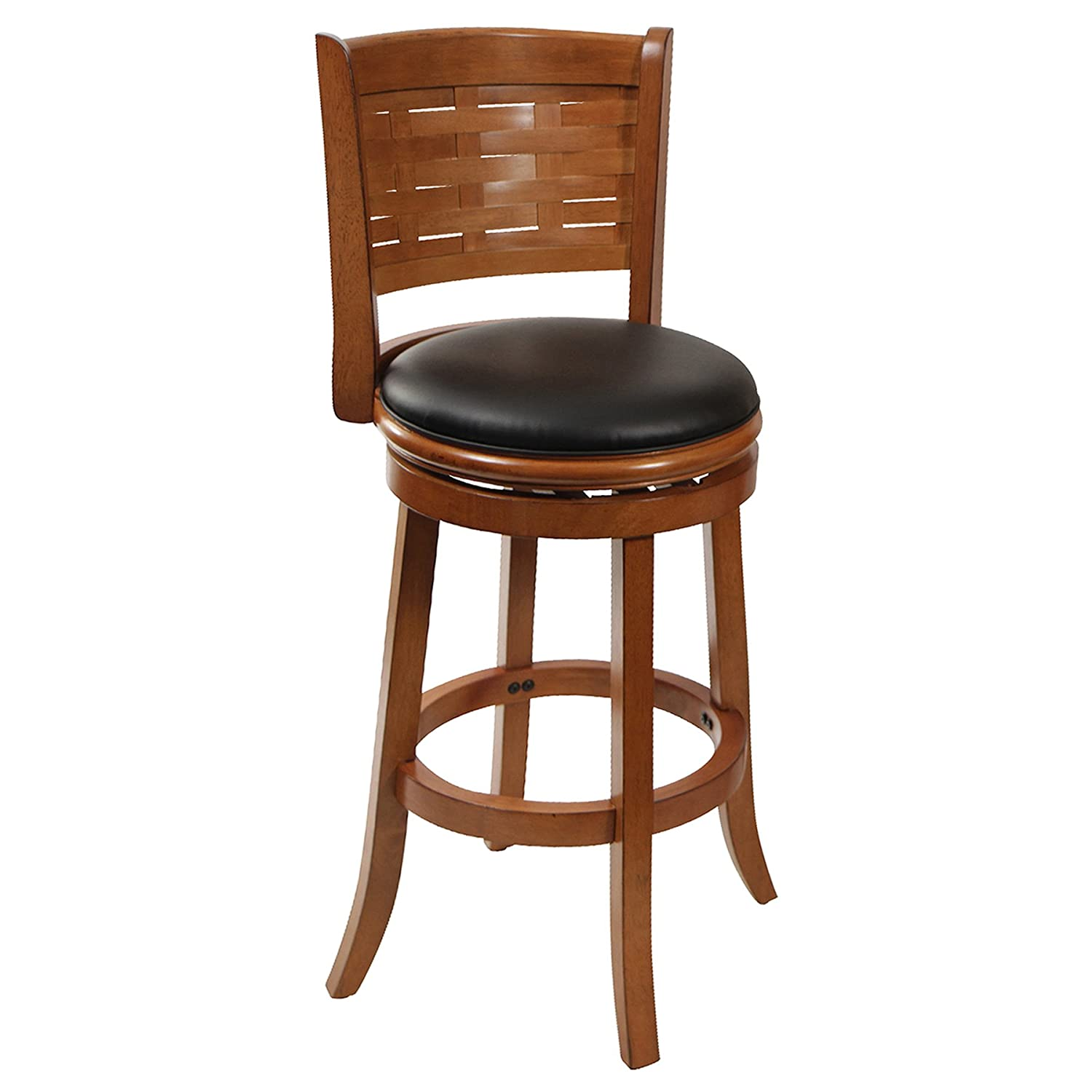 Amazon Boraam Sumatra Swivel Stool 29 Inch Brushed Oak