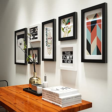 HHNP Photo Frames Simple Solid Wood Photo Wall Living Room Bedroom ...