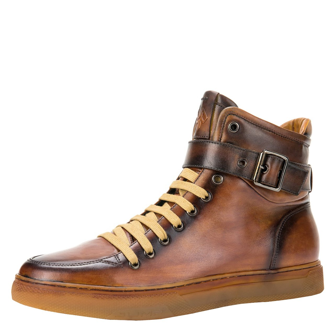 JUMP NEWYORK Men's Sullivan High-Top Fashion Sneaker Tan 8 D US