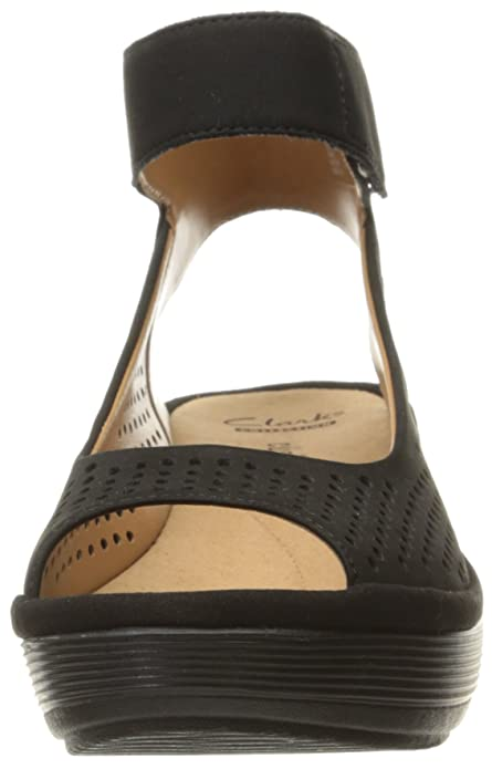e7b41ae2b6 Amazon.com | Clarks Women's Reedly Salene Wedge Sandal | Platforms & Wedges