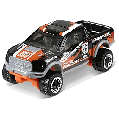 Hot Wheels 2020 50th Anniversary HW Hot Trucks '15 Ford F-150 Raptor 348/365, Black: Toys & Games