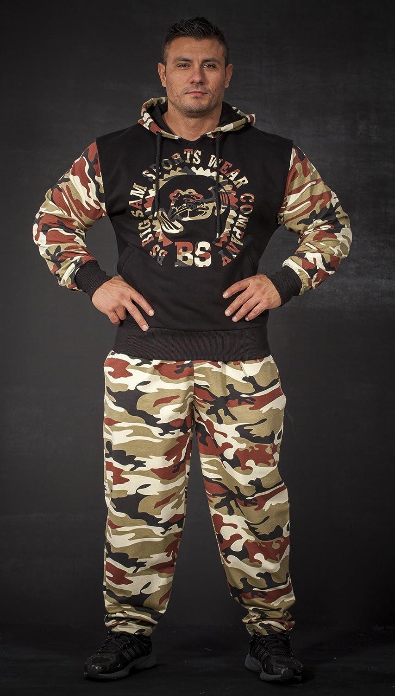 BIG SAM SPORTSWEAR COMPANY Bodybuilding Mens Baggy Track Pants Bodypants 1058