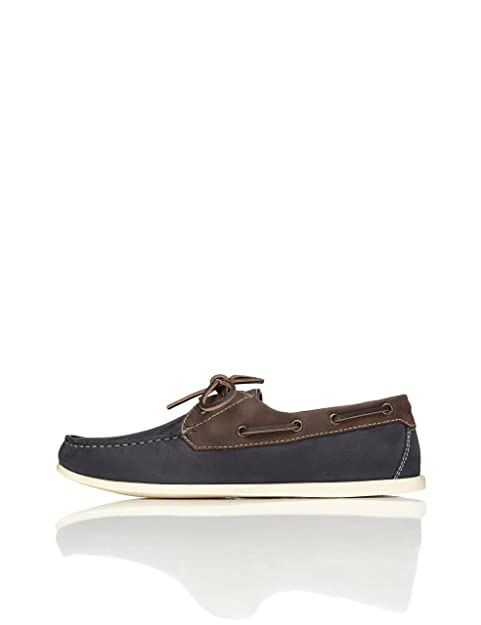 newest e3724 0ce2e Amazon-Marke: find. Herren Bootsschuhe aus Leder