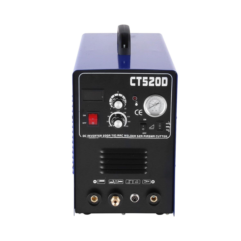 Mophorn 3 en 1 Máquina de Soldadura Inversora sin Eschufa 220V Máquina de Soldadura CT520D con Inversor de 50 Amperios Máquina de Soldadura: Amazon.es: ...