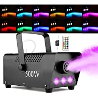 Halloween Fog Machine with Lights - 3 Stage LED Lights with 12 Colors & Strobe Effect for Party Wedding Holiday…