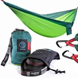 9th WAVE CloudNest 2X Person Camping Hammock with Suspension Tree Straps & Heavy Duty Carabiners - Compact, Lightweight Perfect for Two or One. Good for Camping, Travel, Hiking, Beach or Backpacking
