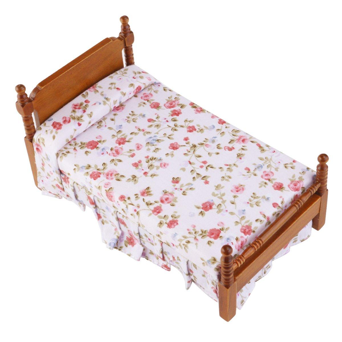 Winomo Premium-Puppenhaus Bett 7c4b075382