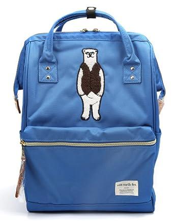 Frauen Mädchen Japanischen Und Koreanischen Stil Rucksack Wasserabweisend Oxford Tuch Schultaschen Neue Handtasche Reiserucksack,Blue-25*13*36cm Addora