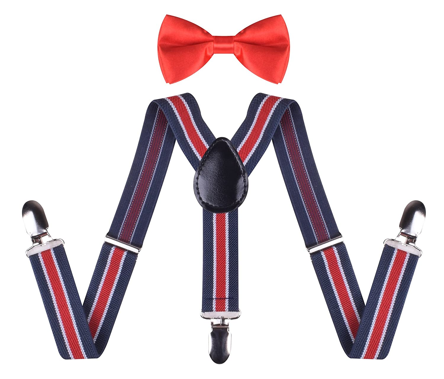 BODY STRENTH Kids Suspenders and Bow Tie Set Adjustable KHGEIIEGH20002