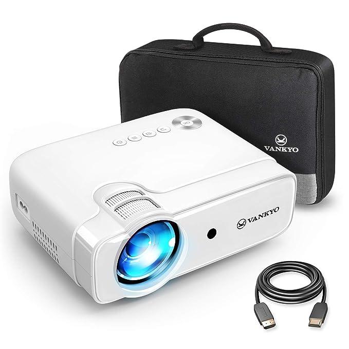 Proyector VANKYO Leisure 430 Mini Beamer soporta 1080P Full HD, 3800 lúmenes Heimkino Beamer con 5000 Horas LED Compatible con TV Stick, HDMI, SD, AV, VGA, USB, PS4, X-Box