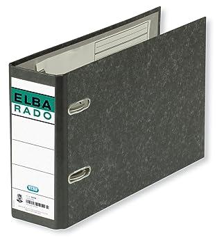 Elba Rado Clásico Jaspeado 100202209 - Archivador palanca forrado en papel jaspeado, A5: Amazon.es: Oficina y papelería