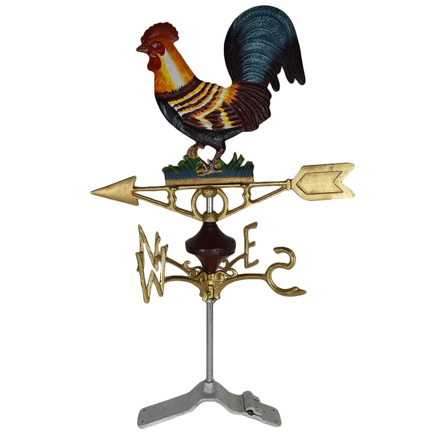 Cockerel Chicken Hen Weather Vane Vain Ridge Mount Gold House Roof CastIron AB Tools