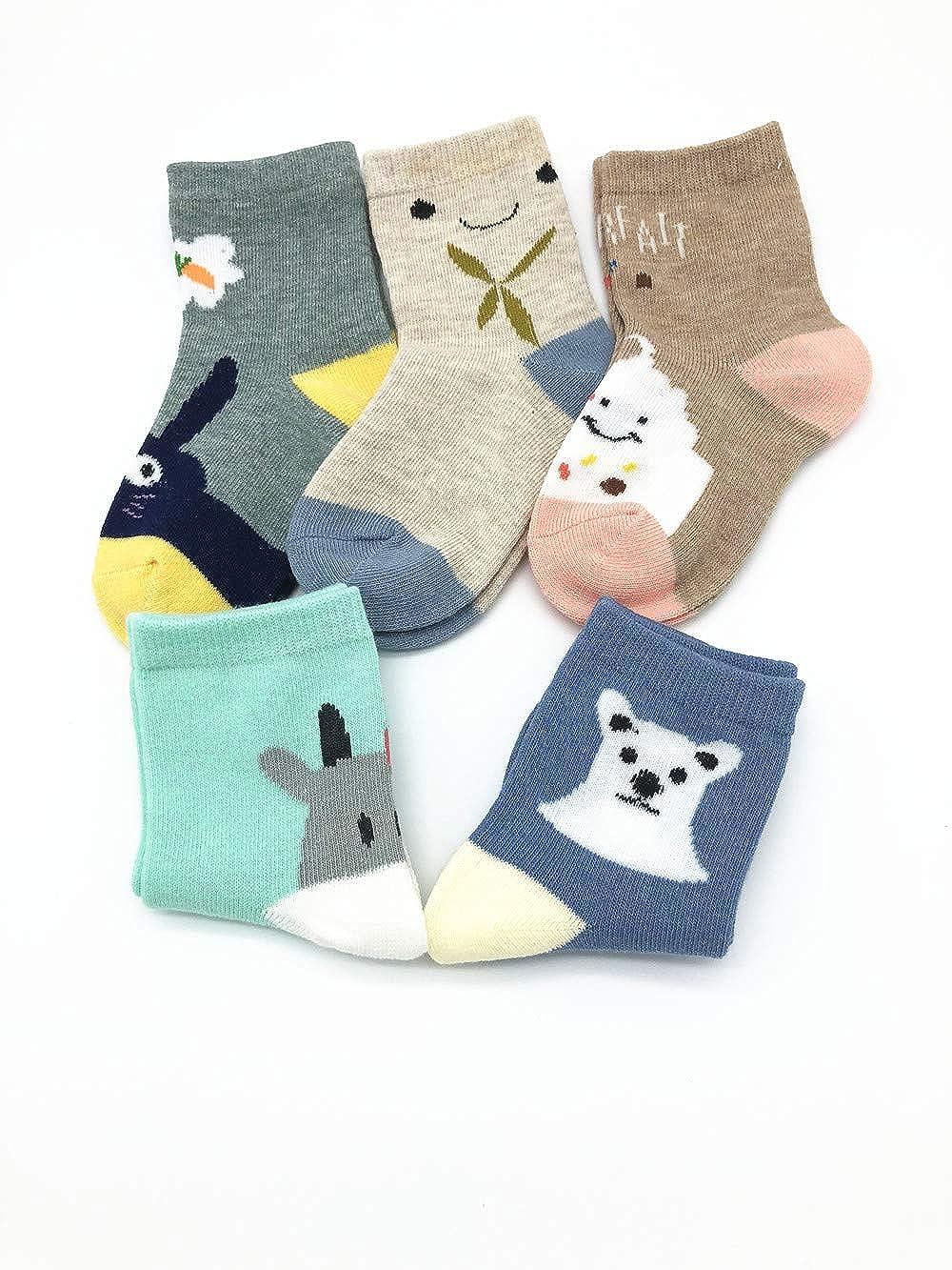 BOMPOW Baby Socks Toddler Kids Floor Socks for 1-3 Years Old Baby