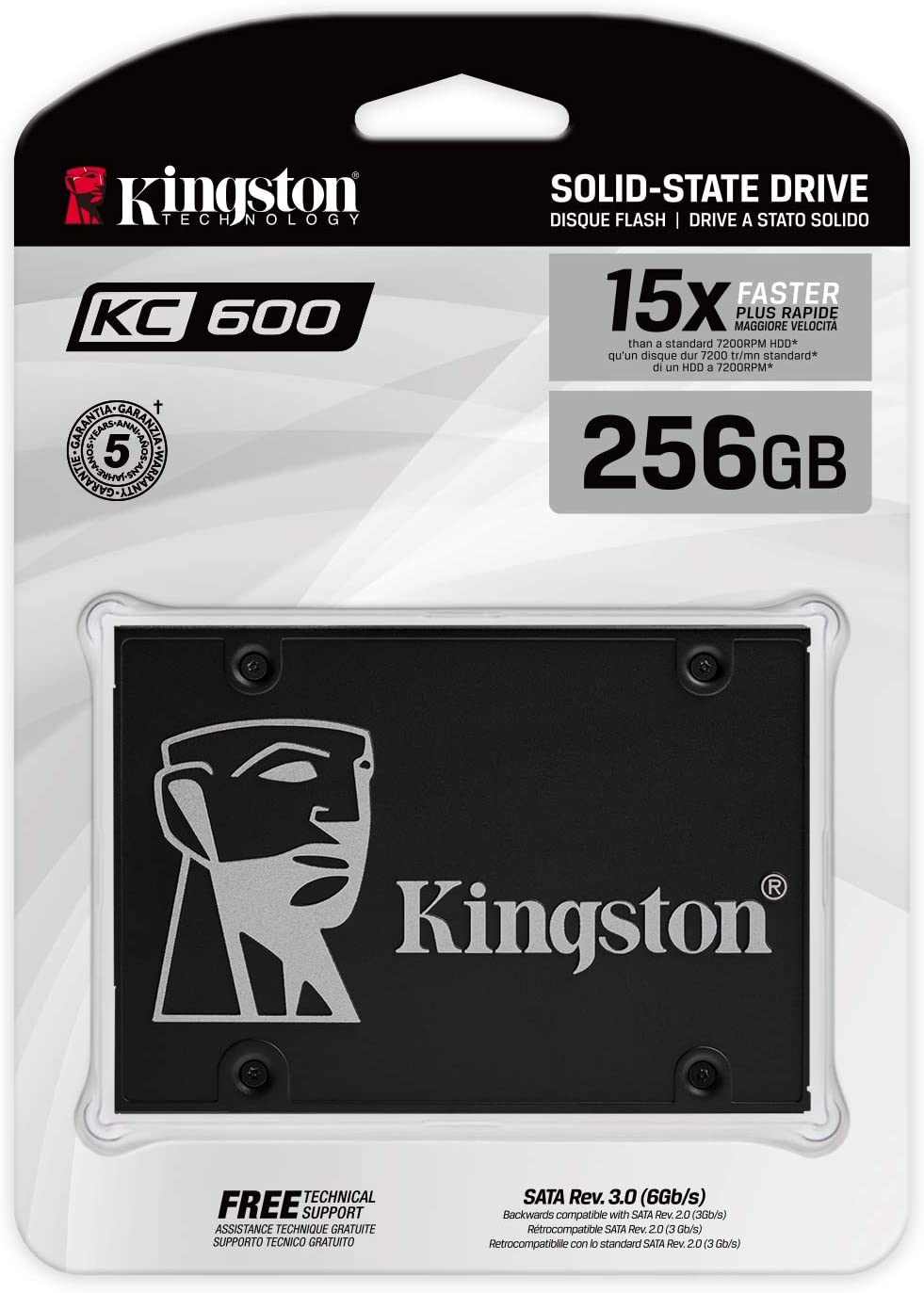 Kingston KC600 SSD SKC600/256G - Disco Duro sólido Interno 2.5 ...