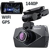"""VETOMILE V2 2K Dash Cam Full HD 1440P Caméra Embarquée Voiture Appareil Photo Intégré 2,7 """"LCD, Vidéo DVR avec 170℃ Grand Angle, Enregistrement en Boucle/d'Urgence, WIFI, G-Capteur, GPS, Super Night Vision, Moniteur de Parking"""