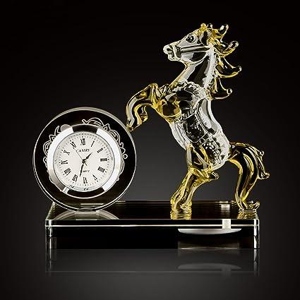LFGao Car Perfume Adornos Creativo Coche Aroma Joyas Relojes Cristal Caballo Moda Coche Perfume Asiento Relojes