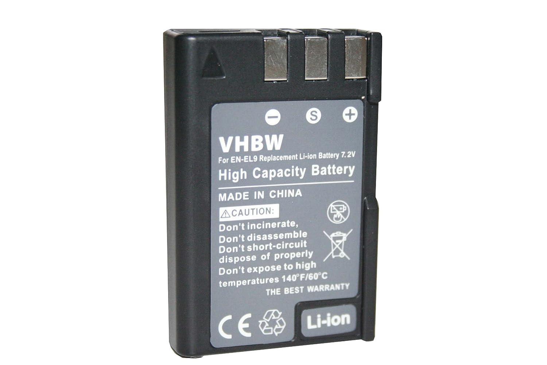 Set x3 baterías vhbw 900mAh (7.2V) para cámara Nikon D40 SLR D40x ...