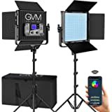 GVM RGB Video Lights with APP Control, 50W 360° Full Color Led Video lights, Dimmable Photography Lighting Video…
