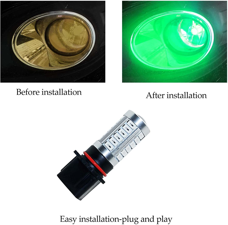 YaaGoo bright fog lights LED DRL bulbs,red,9005 HB3