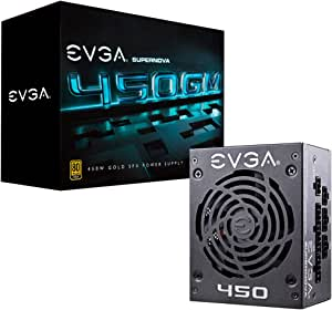 EVGA SuperNOVA 450 GM, 80 Plus Gold 450W, Fully Modular, ECO Mode with DBB Fan, 7 Year Warranty, Includes Power ON Self Tester, SFX Form Factor, Power Supply 123-GM-0450-Y1