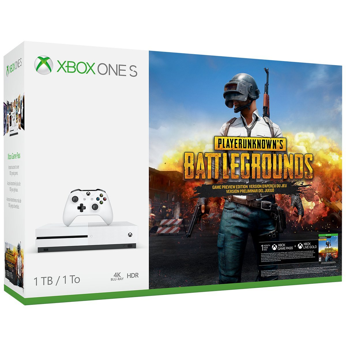Xbox One S 1TB Console – PLAYERUNKNOWN'S BATTLEGROUNDS Bundle by Microsoft