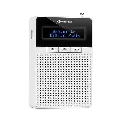 auna DigiPlug DAB - Steckdosen-Radio, DAB+ Radio mit RDS, UKW/PLL Tuner,  Bluetooth, USB-Port, LCD-Display, mit integriertem Breitbandlautsprecher,  ...