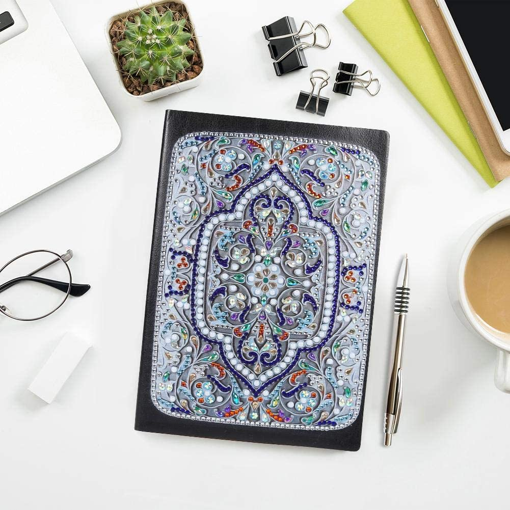 Diamond Painting Cover Notebook Joural for Journaling Writing Note Taking Diary and Planner,A5 DIY Diamond Painting 50 Pages Notebook Diary Book Christmas Birthdays Gifts Ideas-Mandala 5
