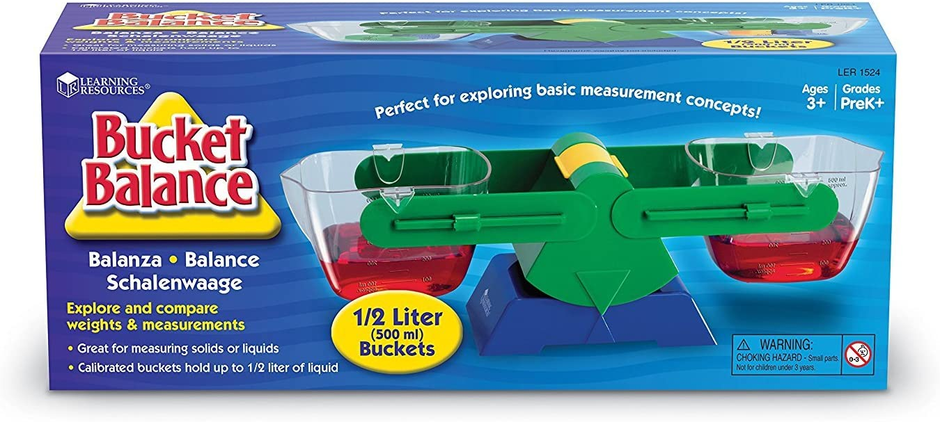 B0006PKZ5O Learning Resources Bucket Balance, 1g Sensitivity, Mass Measurement, Includes Buckets, Ages 3+ 71aTy4G1FRL