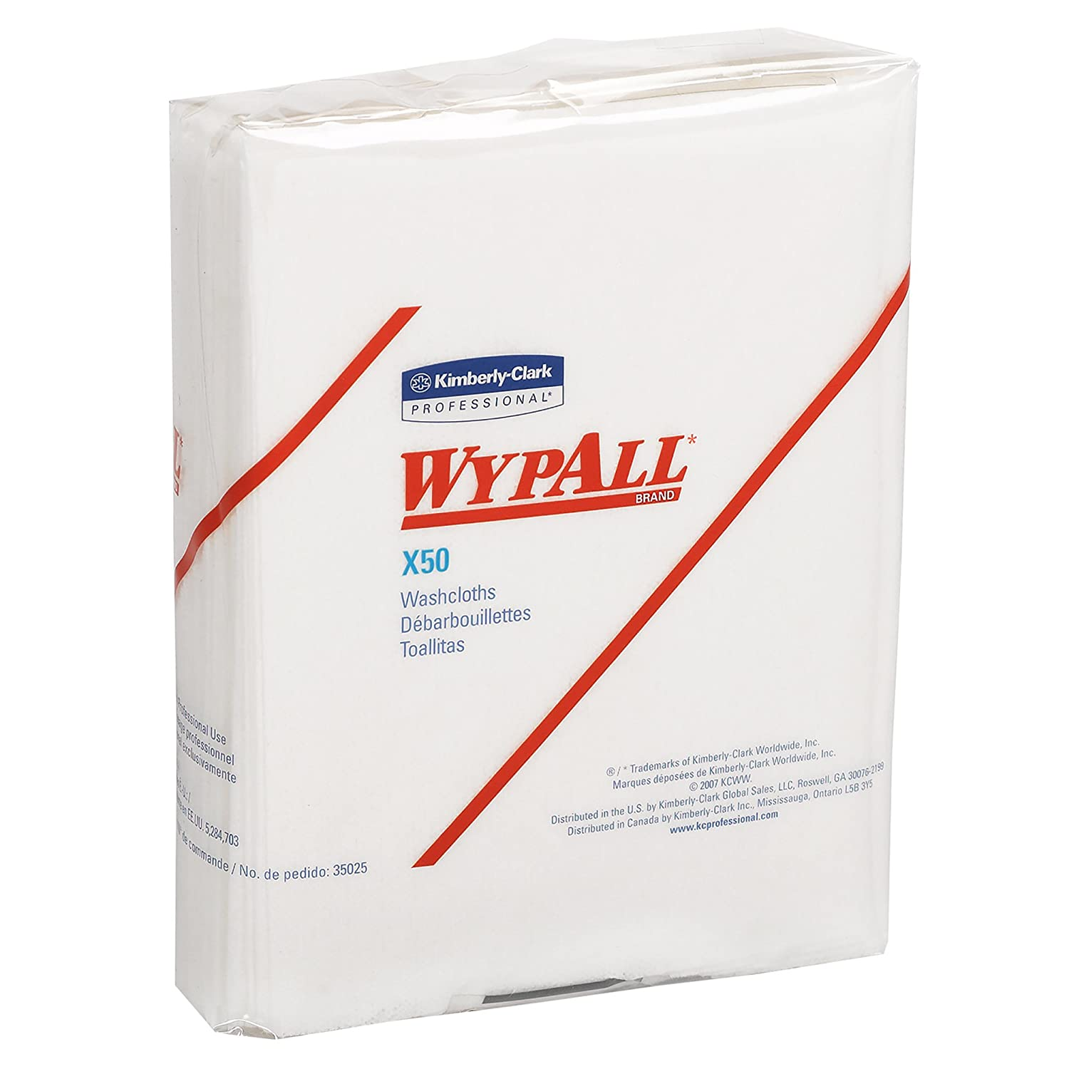 Wypall X50 Disposable Cloths 35025 Strong for Extended Use Quarterfold White 32 Packs Case 26 Sheets Pack 832 Sheets Case