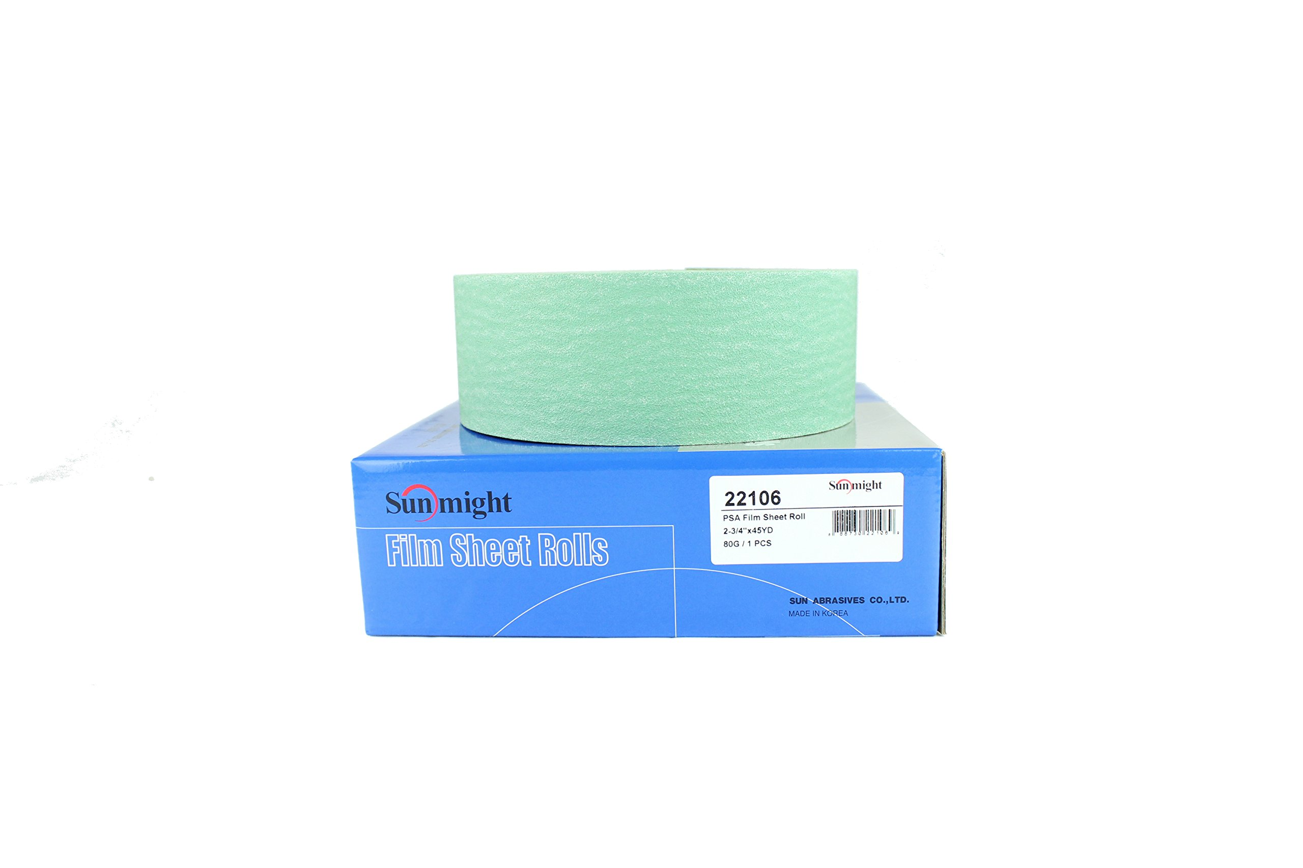 Sunmight 22106 1 Pack 2-3/4'' X 45 yd PSA Sheet Roll (Film Grit 80) by Sunmight (Image #2)