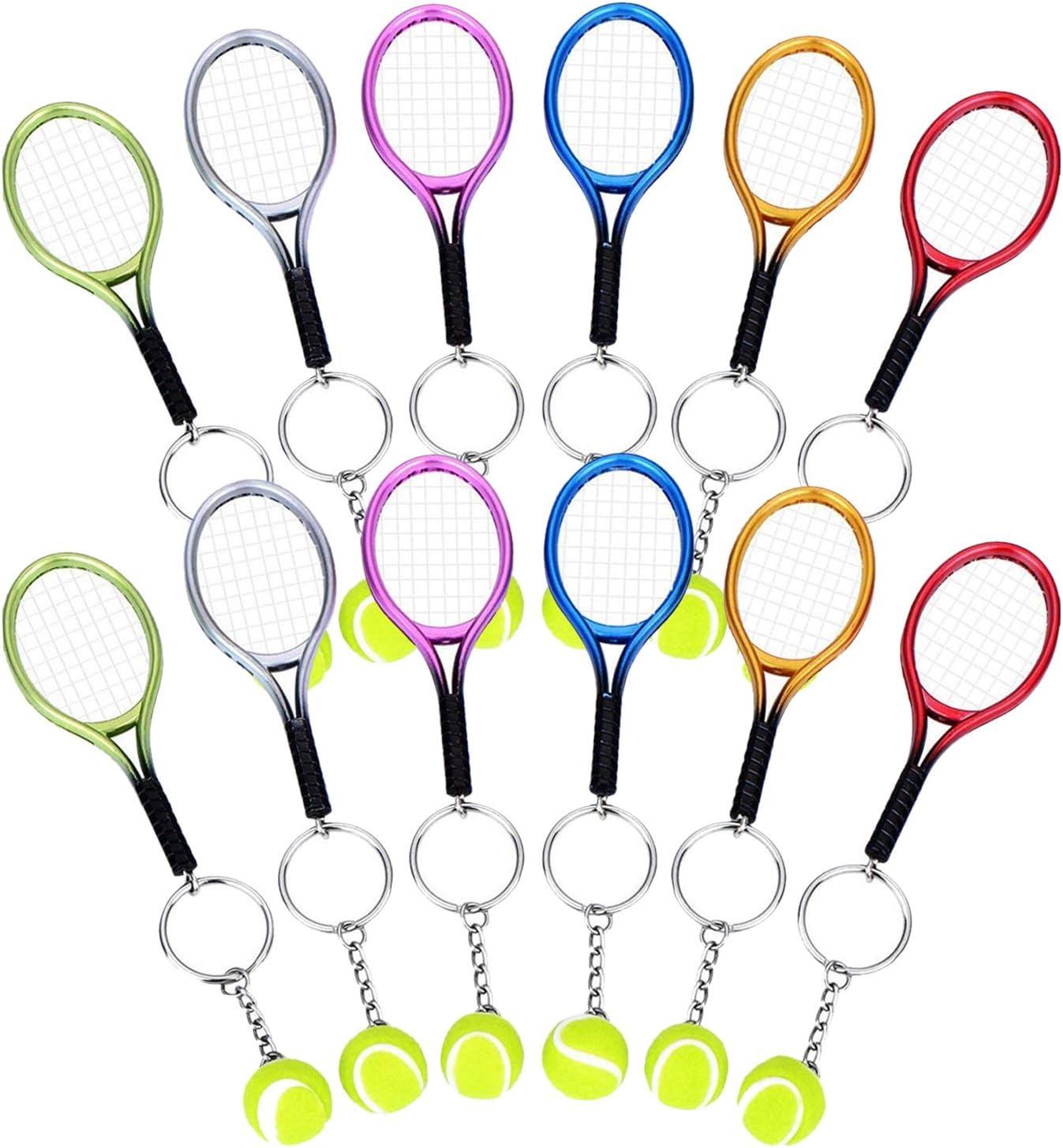 Tenis Raqueta Llavero, Comius 12 Pcs Mini Llave Anillo, Novedad ...