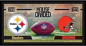 Pittsburgh Steelers vs. Cleveland Browns Framed 10