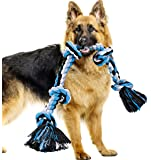 BMAG Dog Rope Toys for Aggressive Chewers, Interactive Heavy Duty Dog Toys for Medium Large Dogs, Tough Twisted Rope Toy…