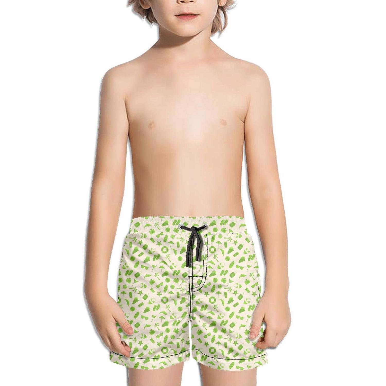 Ina Fers.Quick Dry Swim Trunks Summer Time Holiday Journey Shorts for Boys