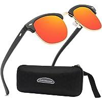 Perfectmiaoxuan Gafas de sol polarizadas Hombre Mujere Retro/Aire libre Deportes Golf Ciclismo…