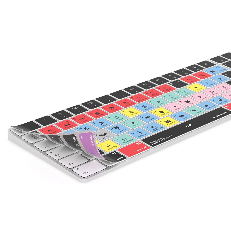 Schutz und Shortcuts. passend f/ür Apple Magic Wireless Keyboard mit Ziffernblock Final Cut Pro X Tastaturabdeckung