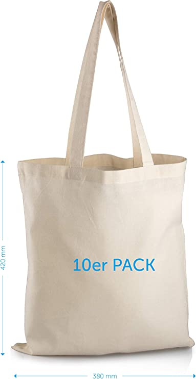 Mister Bags Bolsas de algodón 10 Unidades Pintar e Imprimir ...
