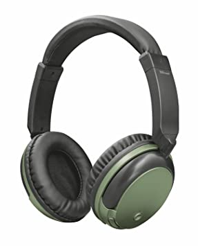 Trust Urban Kodo - Auriculares inalámbricos con tecnología Bluetooth para Llamadas telefónicas y música, Color Verde: Amazon.es: Electrónica