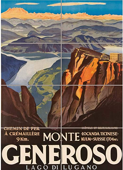 monte generoso monte generoso travel poster monte generoso poster monte generoso print travel poster wall decor