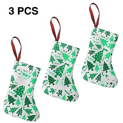 Amazon Com Green Tree 7 5 Mini Christmas Stockings Hanging