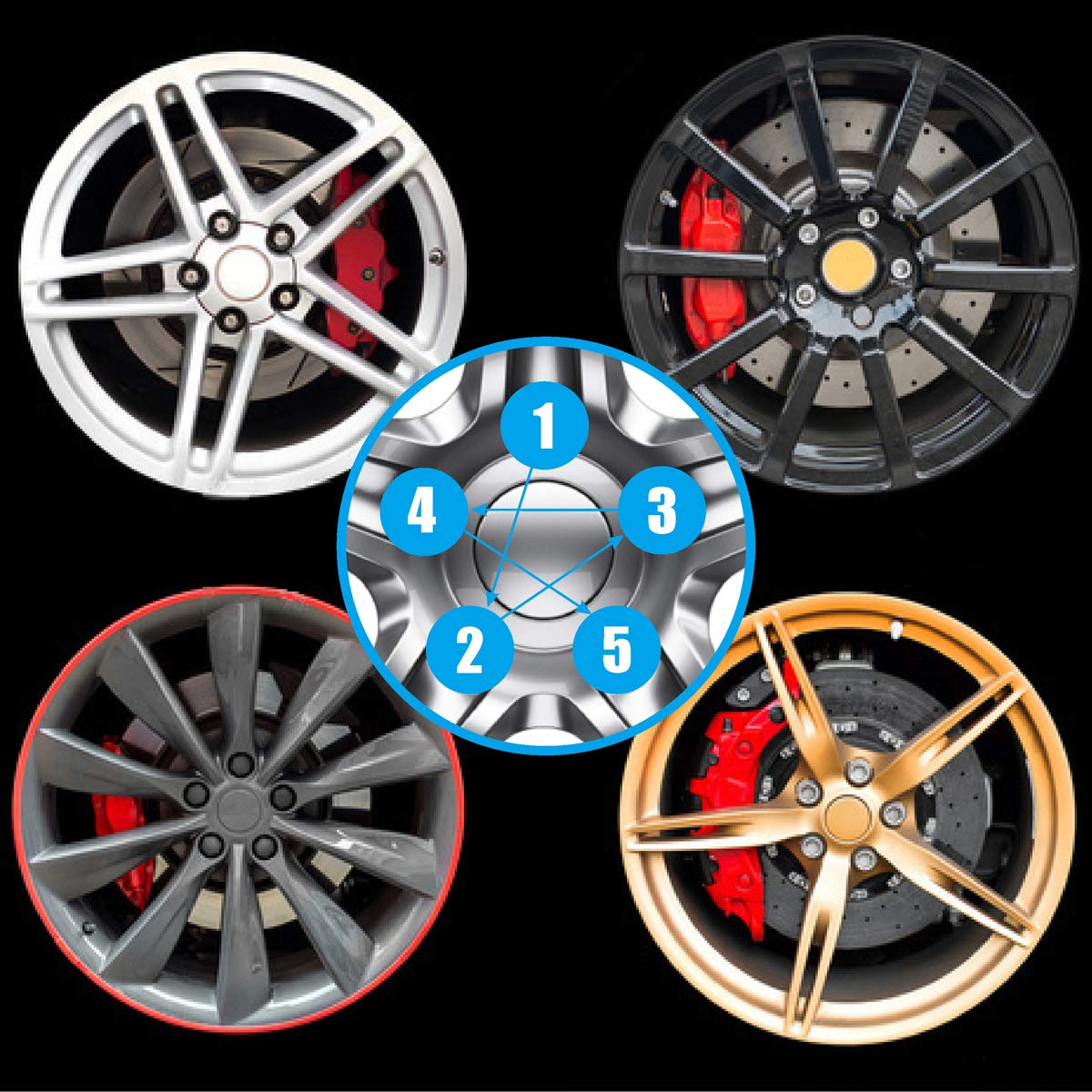 Dynofit 12mmx1.5 Wheel Lug Nuts Conical//Cone Bulge Seat Closed End Duplex Nuts 1.38 Tall 3//4Hex Size Fits Honda Acura Toyota Lexus Scion Aftermarket 5 Lug Wheels 20 Black M12x1.5 Lug Nut