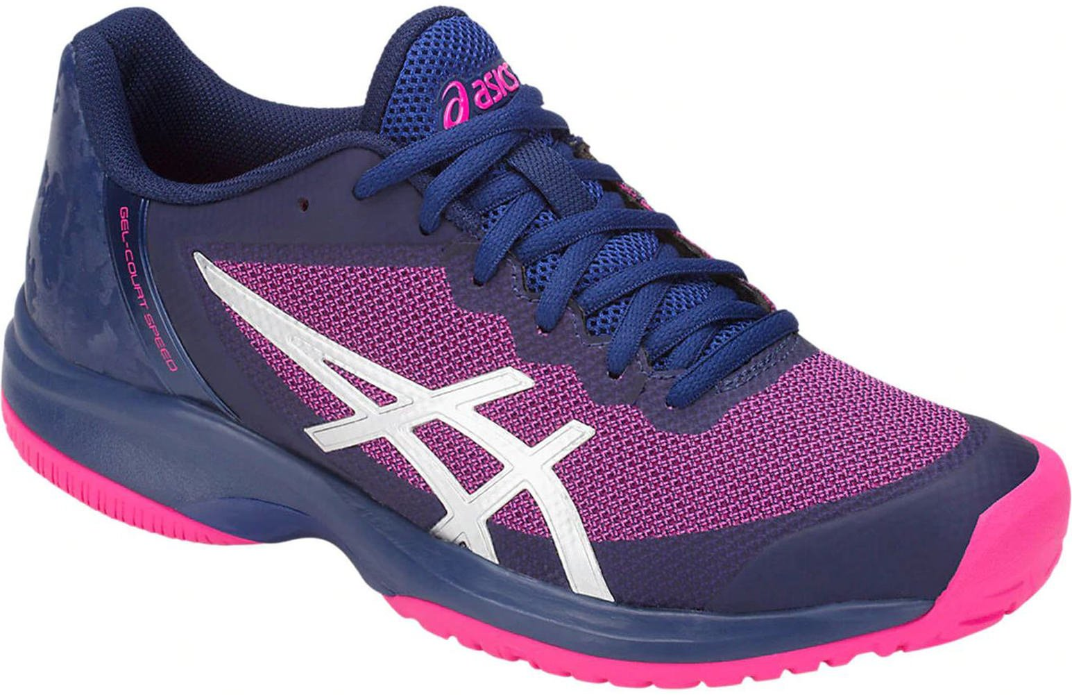 ASICS Women's Gel-Court Speed Blue Print/Pink Glo 8 B US