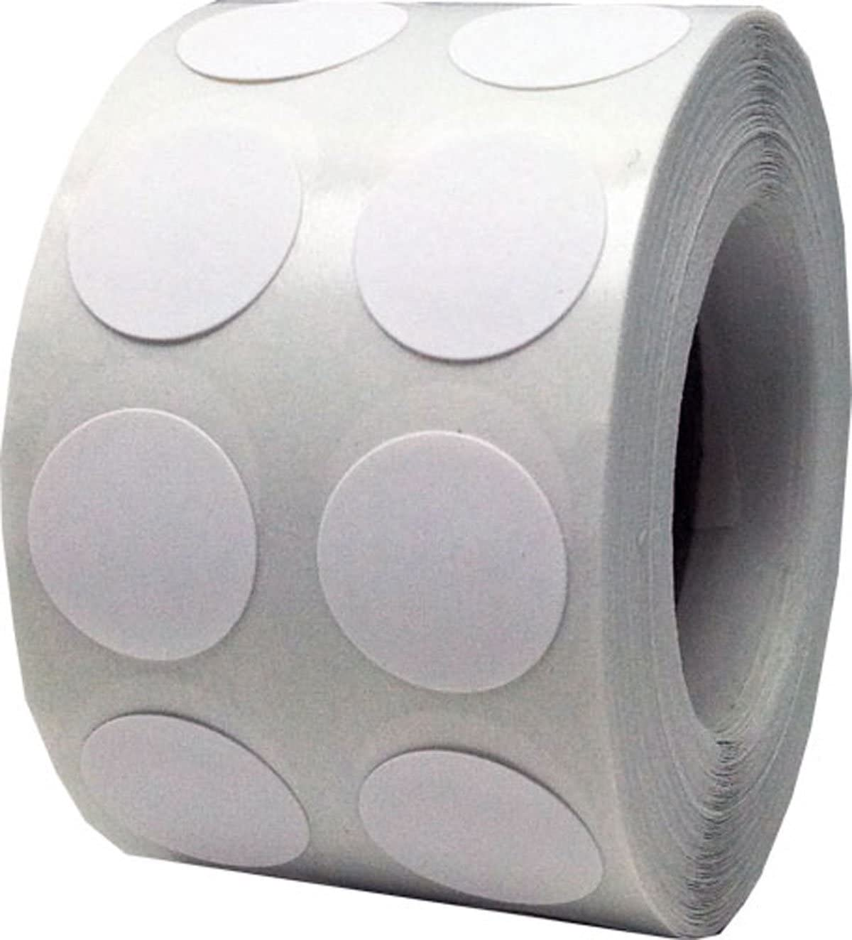 White Color Coding Labels for Organizing Inventory 0.50 Inch Round Circle Dots 1,000 Total Adhesive Stickers On A Roll