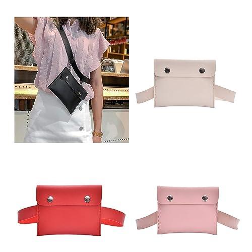 fafdf5db5062 Amazon.com: 2019 Waist Bags For Women Fashion Women Pure Color Hasp ...