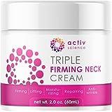 ACTIVSCIENCE Neck Firming Cream, Anti Aging Moisturizer for Neck & Décolleté, Double Chin Reducer, Skin Tightening Cream…