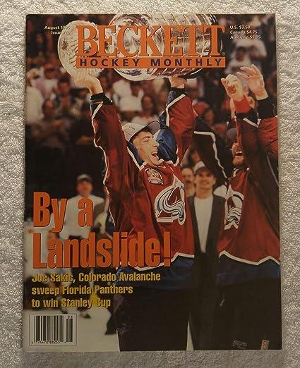Joe Sakic - Colorado Avalanche - 1995 1996 Stanley Cup Champions! - Beckett  Hockey 53701348d
