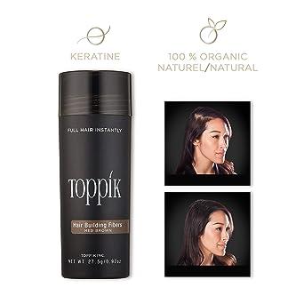 Toppik Fibras Capilares - Tamaño Grande (27.5g) - Color Castaño Medio: Amazon.es: Belleza