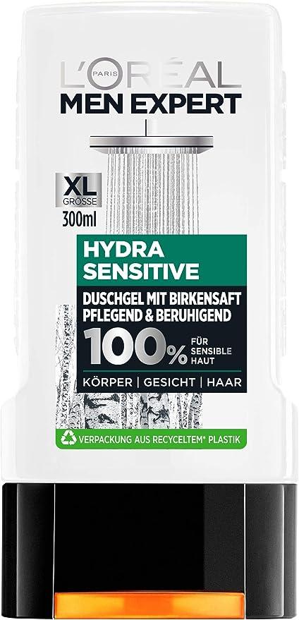 Gel de baño LOréal Men con zumo de abedul, 6 unidades de 300 ml.: Amazon.es: Belleza