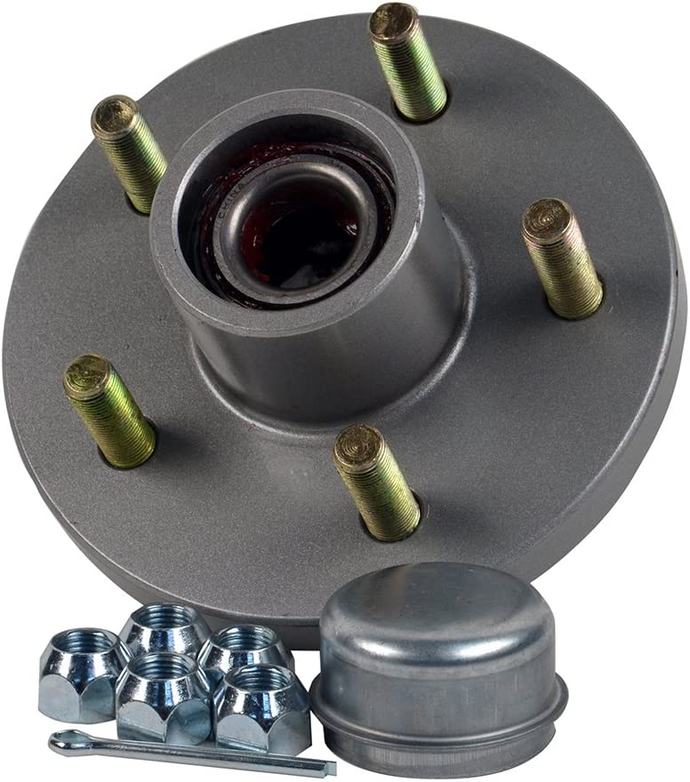 "CE Smith Trailer Tapered 1-3/8"" to 1-1/16"" Stud (5 X 4 1/2) Galvanized Trailer Hub Kit"