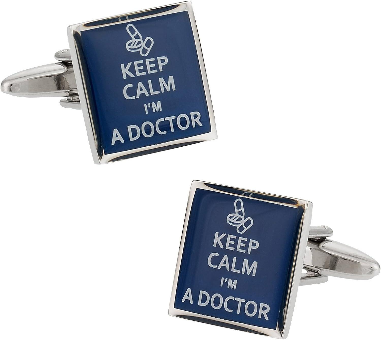 Cuff-Daddy Keep Calm Doctor Cufflinks with Presentation Box